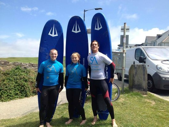 Shoreline Adventures: Us after the first lesson with our coach Ash