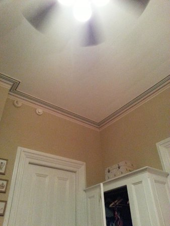 Artist House: Fan and beautiful moulding