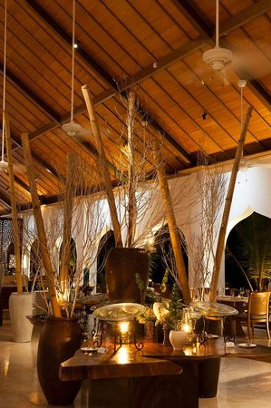 The Residence Zanzibar : Dining Room Restaurant At Night