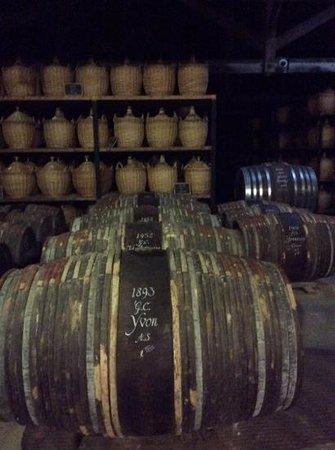 Hennessy Cognac: Old cognac barrels