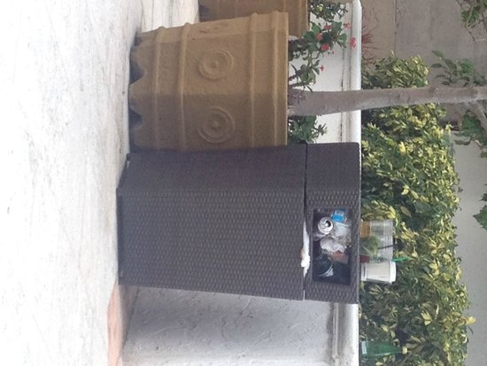 InterContinental Miami: Overflowing garbage