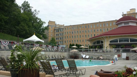 French Lick Springs Hotel: View from the pool facing the hotel