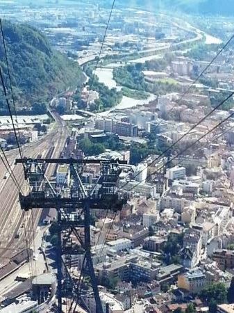Cable Car Renon : Funivia Renon: View of Bolzano from the cable car
