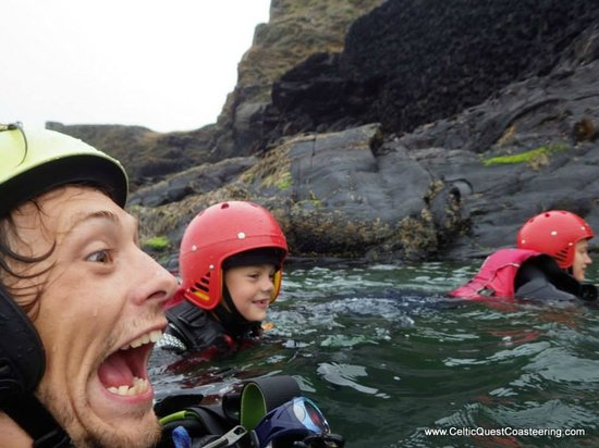 Celtic Quest Coasteering: The amazing Gaz and Bill!