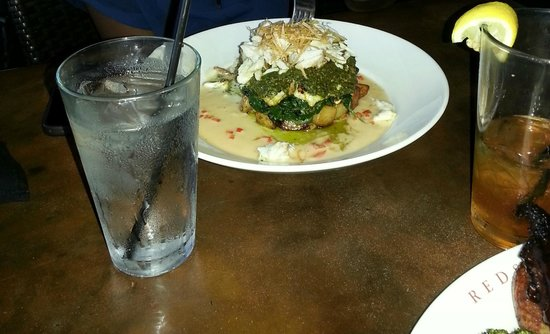 Redstone American Grill: Grilled Fish and Crabmeat