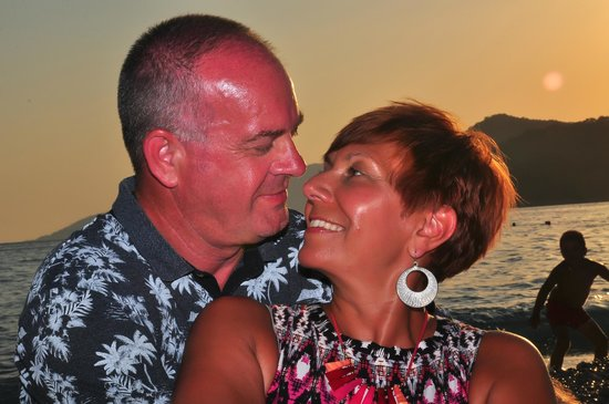 NOA Hotels Oludeniz Resort Hotel: Me and hubby on the beach :-)