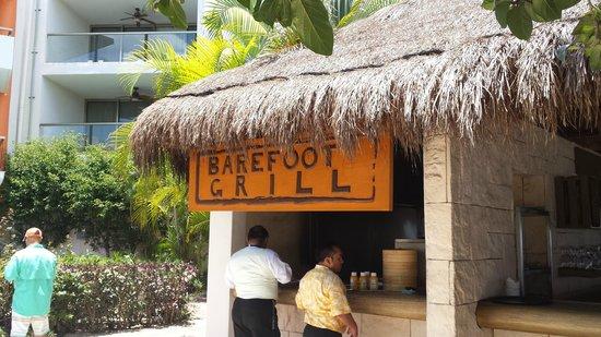Secrets Aura Cozumel: Barefoot grill