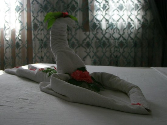 NOA Hotels Oludeniz Resort Hotel: Towel art in our room