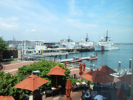 Battery Wharf Hotel, Boston Waterfront: View of the Coast Guard station from our window
