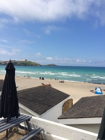 The Breaks Tolcarne Beach Bar & Kitchen: View from the decking :)