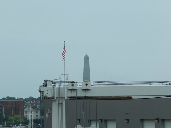 Battery Wharf Hotel, Boston Waterfront: Bunker Hill Memorial from our window