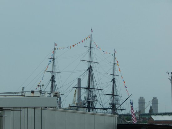 Battery Wharf Hotel, Boston Waterfront: USS Constitution from our window