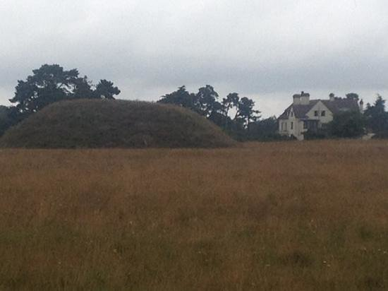 Sutton Hoo: burial mound and Tranmer House