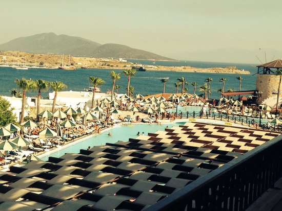WOW Bodrum Resort: View from Lobby bar balcony