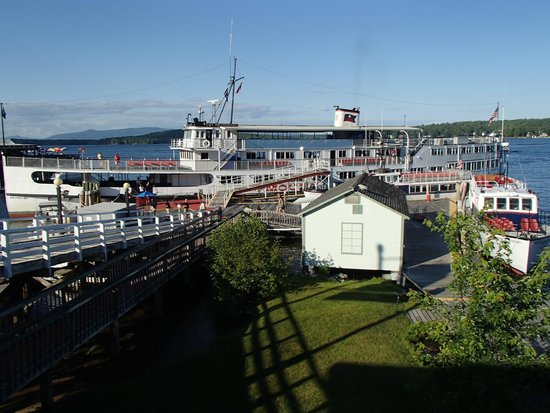 The M/S Mount Washington: The boat docked at Weirs Beach