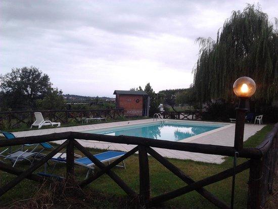 Agriturismo Le Baccane : la piscina