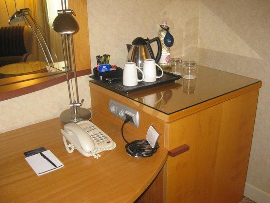 Hilton Budapest City: coffee & tea provided