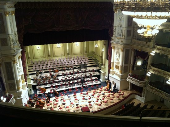 Semper Opera House (Semperoper) : View of stage from top balcony