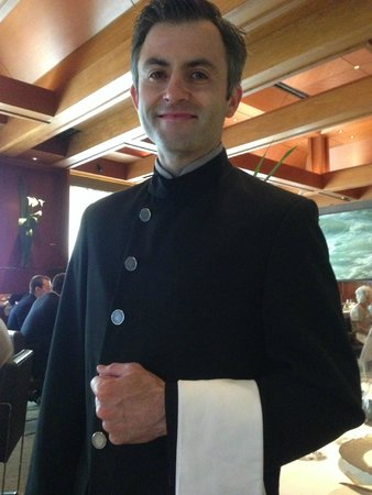 Le Bernardin: one of the waiters