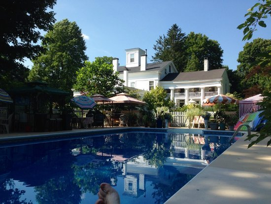 House of 1833: The view from the pool.