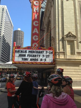 Absolutely Chicago Segway Tours : In front to the Chicago Theater