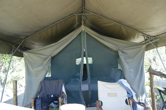 Khwai Tented Camp: Tent from deck