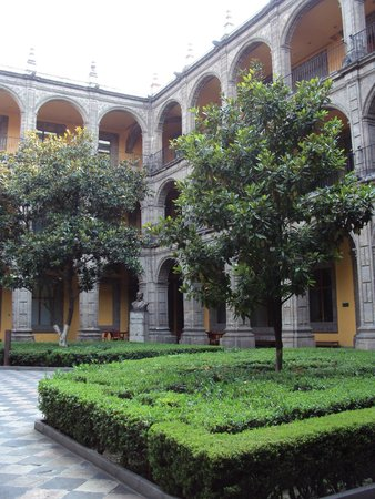 Antiguo Colegio de San Ildefonso: jardin interior