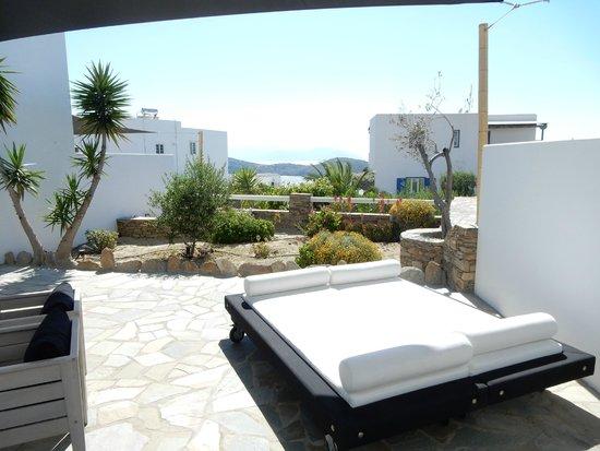 Liostasi Hotel & Suites: la terrasse de notre suite