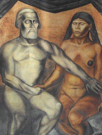 Antiguo Colegio de San Ildefonso: hernán cortés y aborigen
