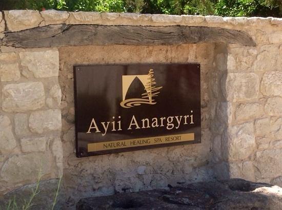 Ayii Anargyri Natural Healing Spa: l'entrée du Resort
