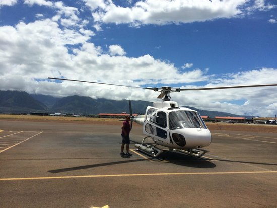 Getting On The Helicopter Picture Of Air Maui Kahului