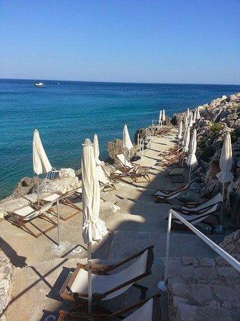 La Roccia Hotel: La spiaggetta privata