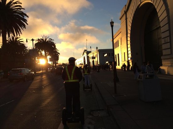 City Segway Tours San Francisco : Segway sunset tour. This was on The Embarcadero SF.