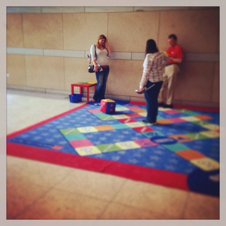 National Constitution Center: Me and a friend playing the game.