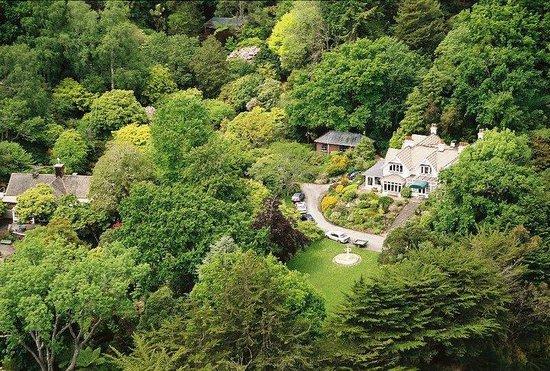 Glenfalloch Woodland Gardens : Aerial view of Glenfalloch's 30 acre property