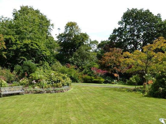 Glenfalloch Woodland Gardens : Lower Lawn vista
