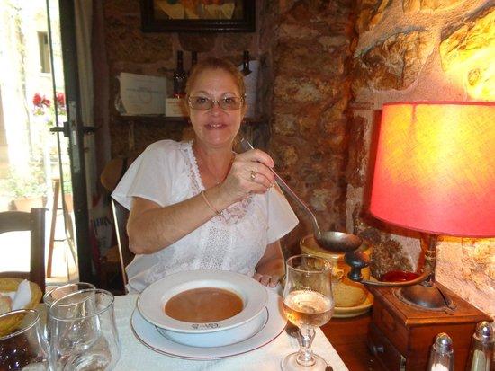 Chez L'ami Paul : Enjoying a delicious fish soup