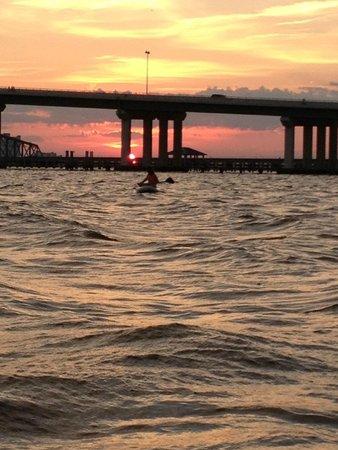 Paddles Up: Beautiful Ocean Springs Sunset