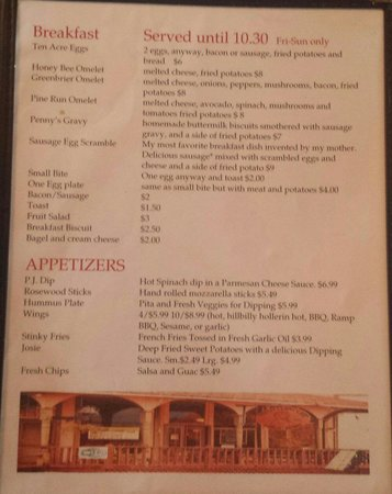 Pretty Penny Cafe: Menu 4