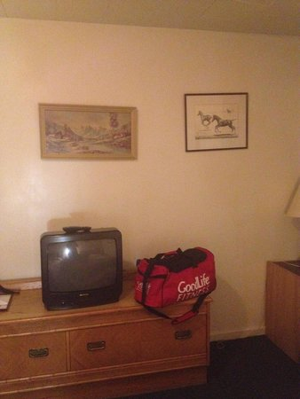 Top Notch Motel & Restaurant: Small tv and old art on walls
