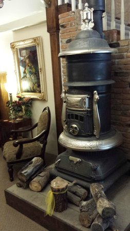 Carr Manor: The old wood burning stove
