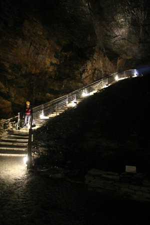 Carnglaze Caverns: The Large Impressive Stairs