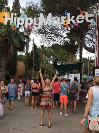 Es Canar, Spanyol: Entrance to hippy market