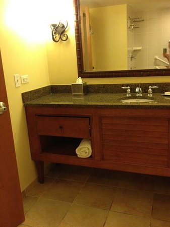 Hilton Melbourne Beach Oceanfront: Bathroom sink...couldn't get it all in