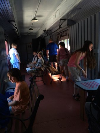 South Simcoe Railway: Baggage car - rented out for parties