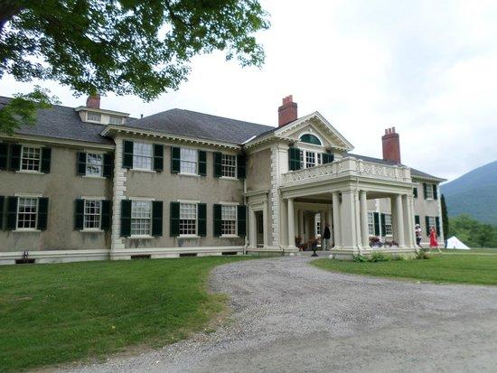 Hildene, The Lincoln Family Home: Front entrance of the house at Hildene