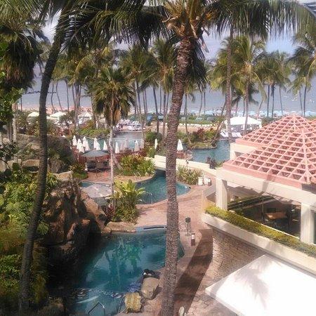 Grand Wailea - A Waldorf Astoria Resort: View of some of the pools.