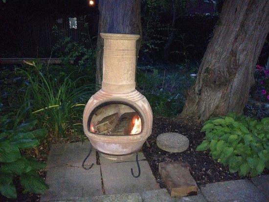 The Secret Garden : Burning for us when we came back from dinner.