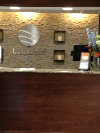 Comfort Inn Westport: Reception desk