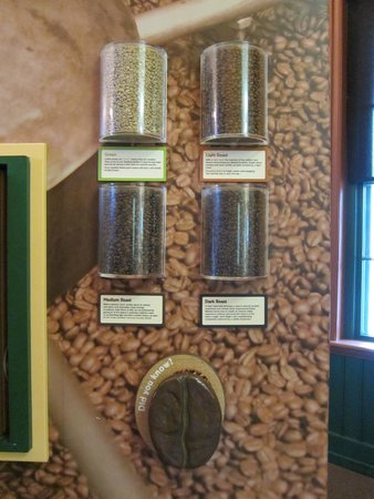 Green Mountain Coffee Cafe & Visitor Center: Coffee bean roasting